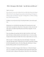 Tài liệu PR ở Olympics Bắc Kinh – họ đã làm sai điều gì? ppt