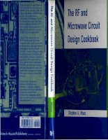 (Ebook electronics)   the Rf and microwave circuit design cookbook (maas, 1998 artech h)