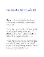 Tài liệu Các dạng bài tập DT quần thể Dạng docx