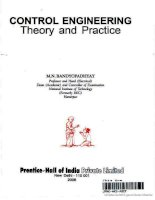 Control engineering  theory and practice
