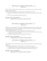 Đề thi vấn đáp môn Luật hình sự