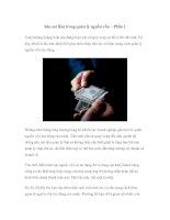 Tài liệu Sáu sai lầm trong quản lý nguồn vốn – Phần 1 docx