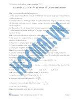 Tài liệu (Luyện thi cấp tốc Lý) Bài toán mẫu nguyên tử Bohr và quang phổ hidro_Trắc nghiệm và đáp án docx