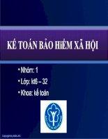 Tài liệu Bài 10: Kế toán tổng hợp và báo cáo tài chính docx