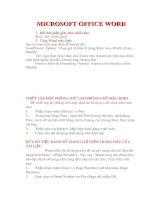 Tài liệu MICROSOFT OFFICE WORD docx