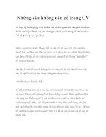 Tài liệu Những câu không nên có trong CV docx