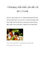 Tài liệu 3 khoáng chất thiết yếu đối với trẻ 1-3 tuổi docx