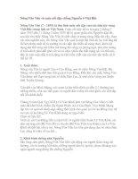 Tài liệu Nông Văn Vân và cuộc nổi dậy ở Việt Bắc pptx