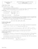 Tài liệu Đề và đáp án luyện thi đại học 2010 khối A-B-C-D đề 4 pptx