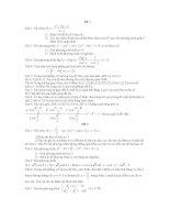 Tài liệu Bộ đề thi Cao đẳng Đại học môn Toán pdf