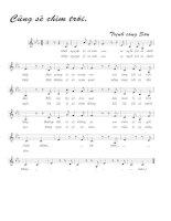 Tài liệu Bài hát cũng sẽ chìm trôi - Trịnh Công Sơn (lời bài hát có nốt) ppt