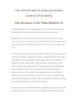 Tài liệu LUYỆN ĐỌC TIẾNG ANH QUA TÁC PHẨM VĂN HỌC-THE ADVENTURES OF SHERLOCK HOMES -ARTHUR CONAN DOYLE 10-3 pptx