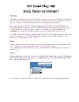 Tài liệu Giới thiệu: Hiện nay nhu cầu trao đổi qua email rất lớn, vừa tiện lại vừa ppt