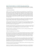 Tài liệu Một số vấn đề xã hội hoá và xã hội hoá hoạt động ngân hàng pdf