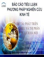 Tài liệu Báo cáo tiểu luận: Phương pháp nghiên cứu kinh tế pptx