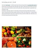 Dinh dưỡng cho trẻ 6 – 12 tuổi