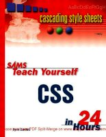 Tài liệu Sams Teach Yourself CSS in 24 Hours- P1 doc