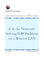 Tài liệu Is It the Network? Solving VoIP Problems on a Wireless LAN ppt