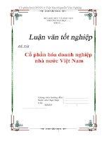 """Tài liệu Luận văn tốt nghiệp """"Cổ phần hoá doanh nghiệp Nhà nước ở Việt Nam"""" pptx"""