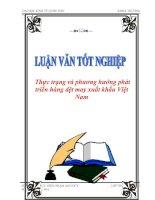 """Tài liệu Luận văn tốt nghiệp """"Thực trạng và phương hướng phát triển hàng dệt may xuất khẩu Việt Nam"""" ppt"""