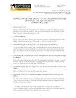 Tài liệu HƯỚNG DẪN CHO PHỤ HUYNH VỀ CÁC CÂU HỎI THƯỜNG GẶP TRONG CÁC THỦ TỤC HÒA ... docx