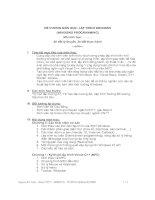 Tài liệu ĐỀ CƯƠNG MÔN HỌC: LẬP TRÌNH WINDOWS pptx