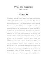 Tài liệu LUYỆN ĐỌC TIẾNG ANH QUA TÁC PHẨM VĂN HỌC-Pride and Prejudice -Jane Austen -Chapter 14 docx