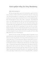 Tài liệu Kinh nghiệm trồng sầu riêng Monthoong ppt