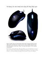 Tài liệu Sử dụng các nút chuột mở rộng để tăng hiệu quả pptx
