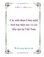 Tài liệu Các mũi nhọn Công nghệ sinh học hiện nay và các tiếp cận tại Việt Nam ppt