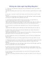 Tài liệu Những câu châm ngôn hay bằng tiếng Anh pptx