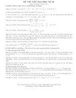 Đề thi thử đại học môn toán 2014 có đáp án