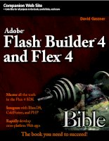 Tài liệu Flash Builder 4 and Flex 4 Bible- P1 docx