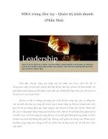Tài liệu MBA trong tầm tay - Quản trị kinh doanh (Phần Hai) pptx