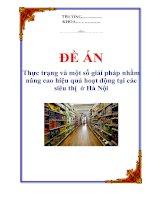 """Tài liệu Đề án """"Thực trạng và một số giải pháp nhằm nâng cao hiệu quả hoạt động tại các siêu thị ở Hà Nội docx"""