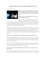 Tài liệu Phỏng vấn xin việc: Nói bao nhiêu là vừa? pdf
