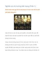 Tài liệu Nghiên cứu thị trường trên mạng (Phần 1) docx