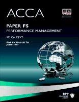 Tài liệu ACCA mới nhất từ BPP môn F5, sách có giá trị cho kỳ thi đến tháng 6-2014.