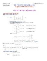 Chuyên đề 2   hệ phương trình đại số