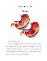 Tài liệu Ung thư dạ dày ( Phần 2) ppt
