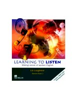 Tài liệu Learning to listen student book 2 part 1 ppt