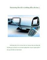 Tài liệu Marketing liên kết và những điều cần lưu ý docx