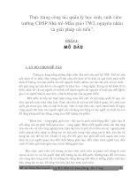Tài liệu Tiểu luận - Thực trạng công tác quản lí giáo dục nguyên nhân và biện pháp giải quyết pptx