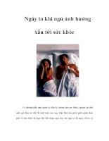 Tài liệu Ngáy to khi ngủ ảnh hưởng xấu tới sức khỏe ppt