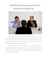 Tài liệu Những lỗi thông thường mà ứng viên thường mắc phải trong khi phỏng vấn doc