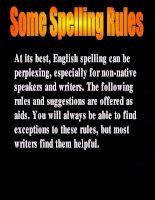 Tài liệu Some spelling rules doc