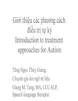 Tài liệu Các phương pháp điều trị tự kỷ pdf