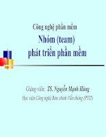 Bài 5: Công nghệ phần mềm-Nhóm phát triển phần mềm_TS.Nguyễn Mạnh Hùng