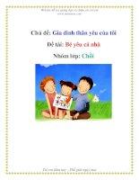 Tài liệu Chủ đề: Gia đình thân yêu của tôi -Đề tài: Bé yêu cả nhà - Nhóm lớp: Chồi ppt