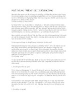 Tài liệu 9 Kỷ năng mềm để thành công pdf